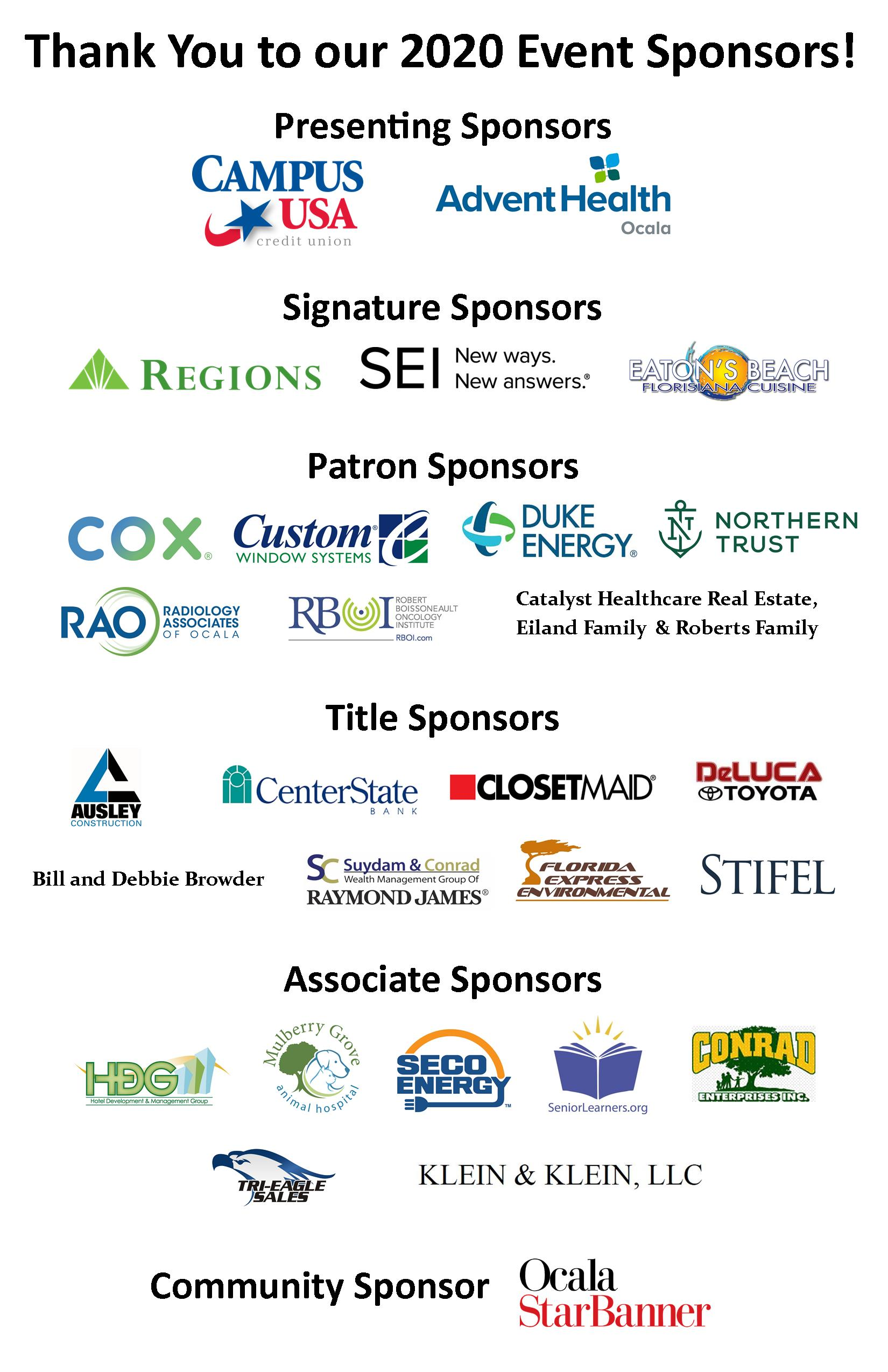 Thank you to our Night at the Farm sponsors!